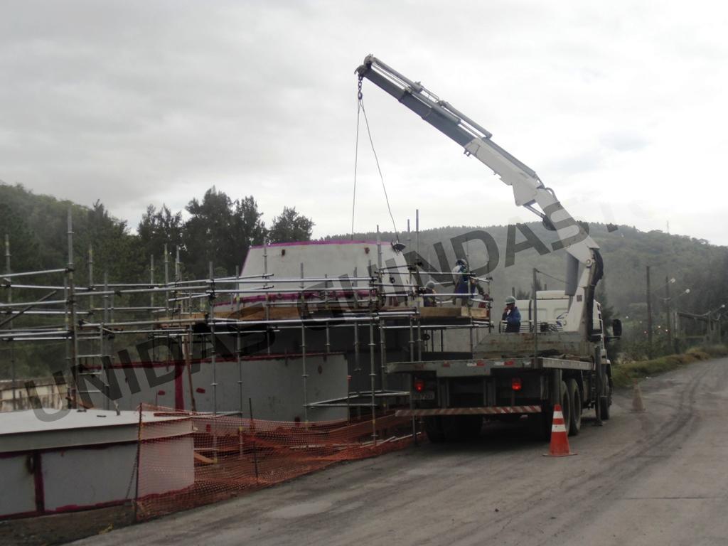 Transporte de peças de grande porte.